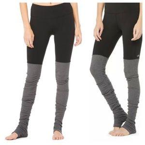 Alo Yoga Goddess Leggings Gray / Black S
